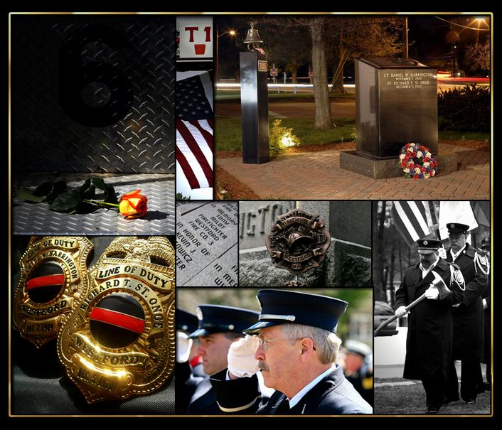 Images of the Firefighter Memorial and Procession