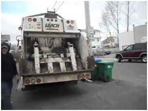 Back of Trash Truck