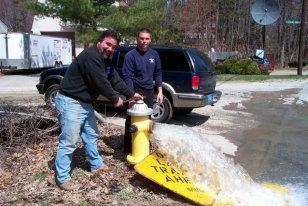 Hydrant Being Flushed
