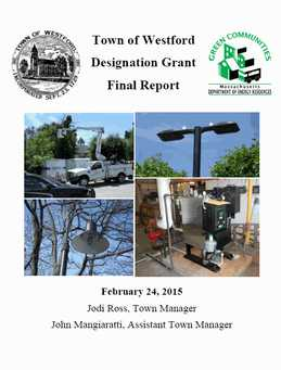 Town of Westford Designation Grant Final Report