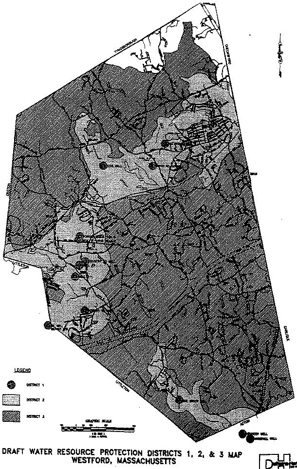 Draft Water Resource Protection Districts 1, 2, and 3 Map