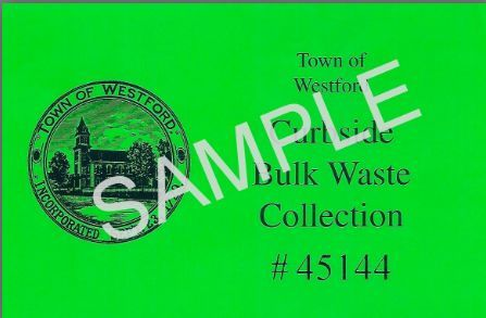 Bulk Waste Collection Sample