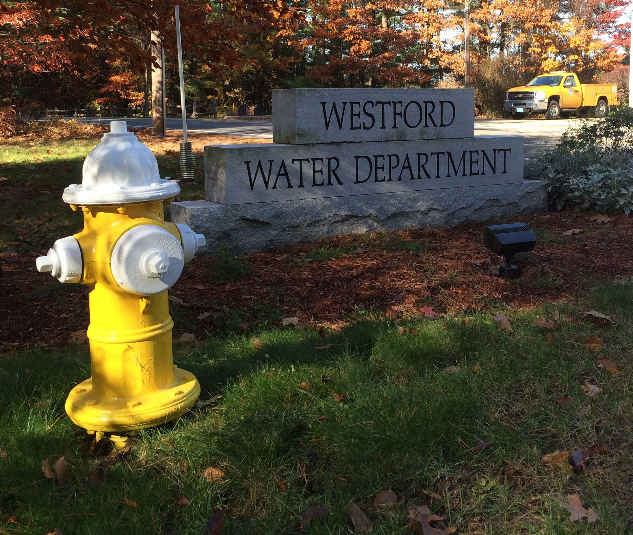 Westford Water Dept sign