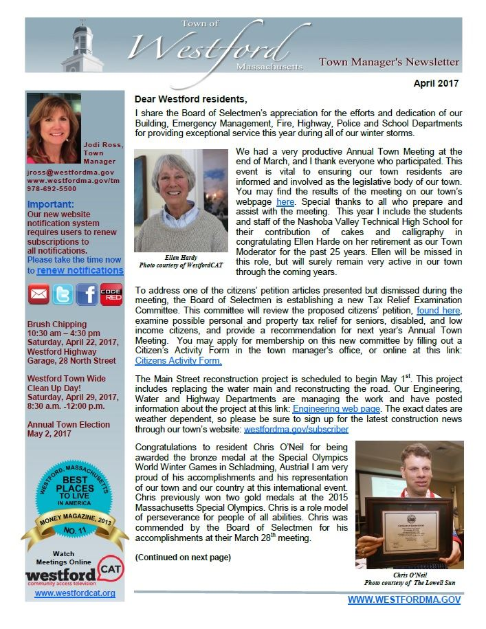 TM Newsletter April 2017 front page