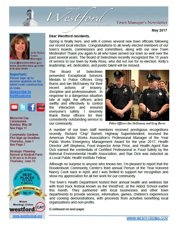 TM Newsletter May 2017 front page