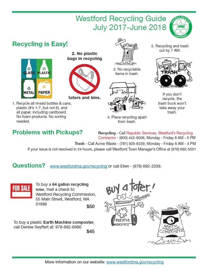 Recycling Guide FY18 July 2017 to June 2018 page 2