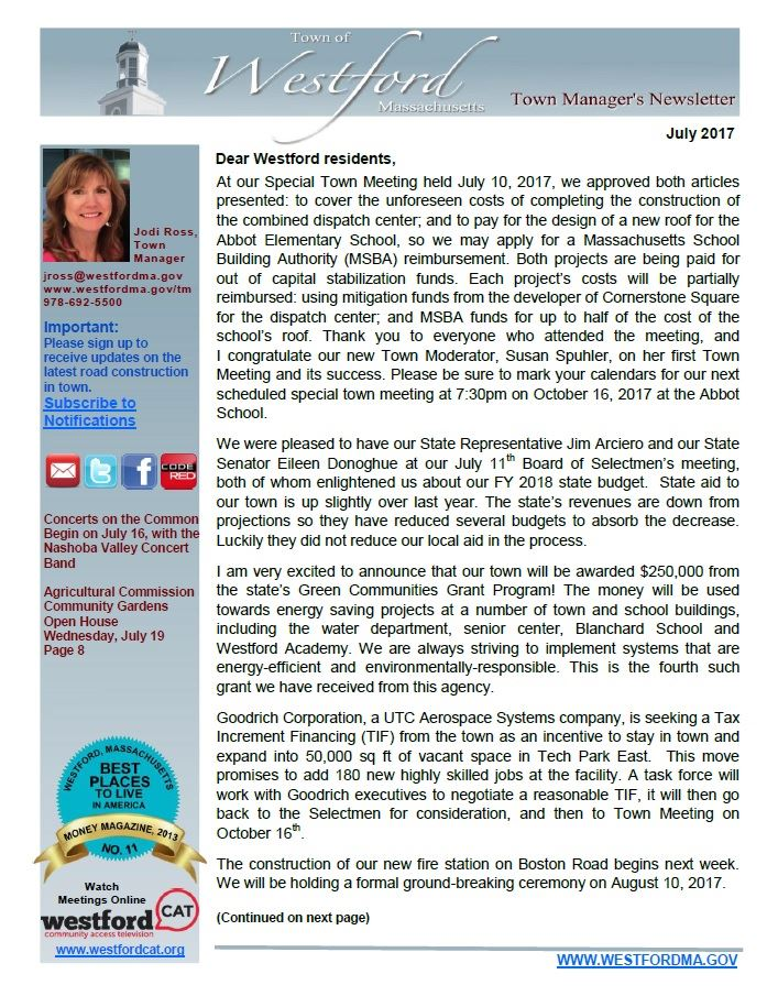 TM Newsletter July 2017 front page