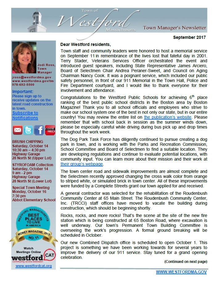 TM Newsletter September 2017 front page
