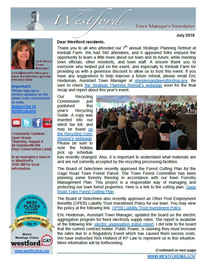 TM Newsletter July 2018 front page