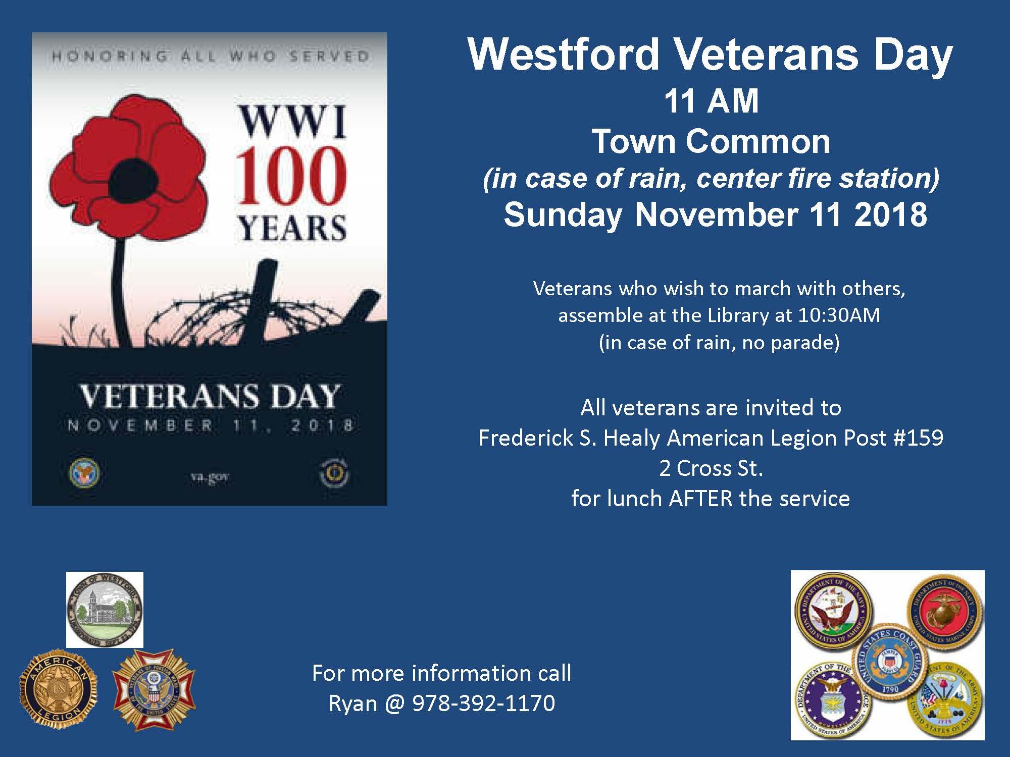 2018 Veterans Day flyer 2