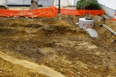 Excavation For New Addition with Police Station on