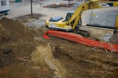 Excavation for New Addition with Tools