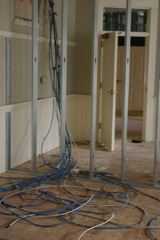 Cables and Wall Area