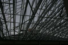 Looking Up at Trusses From Inside
